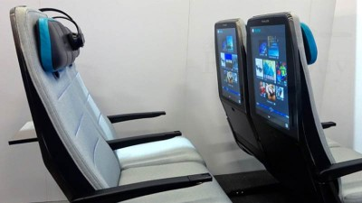 Thales Demonstrates a Large Size In-Flight Entertainment System